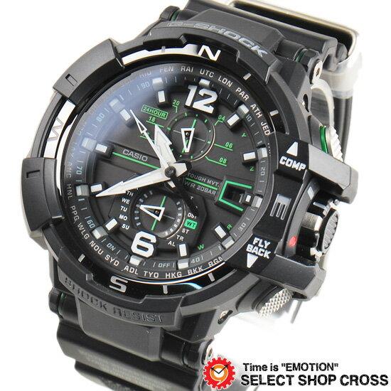【3年保証】G-SHOCK CASIO カシオ Gショック メンズ 腕時計 アナログ SKY COCKPIT GW-A1100-1A3DR ブラック【着後レビューを書いて1000円OFFクーポンGET】 【あす楽】