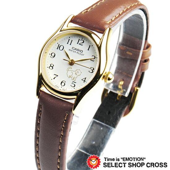 カシオ CASIO レディース キッズ 子供 メンズ 腕時計 ブランド アナログ ベーシック LTP-1094Q-7B7 ブラウン/ゴールド/ホワイト チプカシ チープカシオ