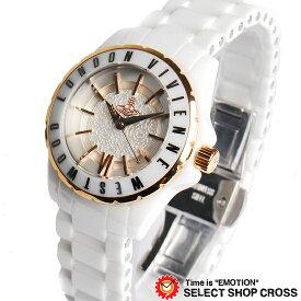 ヴィヴィアン・ウエストウッド Vivienne Westwood レディース アナログ 腕時計 ブランド VV088RSWH ホワイト/ピンクゴールド