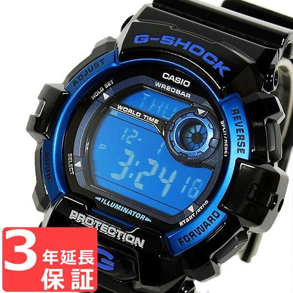【3年保証】 カシオ CASIO G-SHOCK Gショック 防水 ジーショック メンズ 腕時計 海外モデル デジタル G-8900A-1DR ブラック 黒×ブルー [国内 G-8900A-1JF と同型]