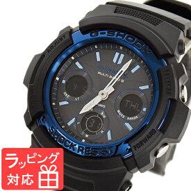 【名入れ・ラッピング対応可】 【3年保証】 カシオ 腕時計 CASIO G-SHOCK ジーショック メンズ AWG-M100A-1A CASIO 電波 ソーラー メンズ 時計 アナデジ AWG-M100A-1ADR ブラック 黒 ブルー 海外モデル [国内 AWG-M100A-1AJF ] カシオ 腕時計