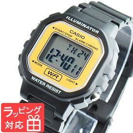 【名入れ・ラッピング対応可】 カシオ CASIO レディース キッズ 子供 メンズ 腕時計 ブランド デジタル スタンダード LA-20WH-9A イエロー/ブラック 黒 海外モデル チプカシ チープカシオ