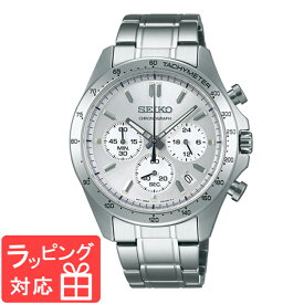 【無料ギフトバッグ付き】 【3年保証】 SEIKO セイコー SPIRIT スピリット メンズ 腕時計 クロノグラフ クオーツ SBTR009 シルバー 正規品 【あす楽】