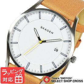 【3年保証】 スカーゲン メンズ レディース ユニセックス 腕時計 SKAGEN 時計 スカーゲン 時計 SKAGEN 腕時計 人気 クオーツ レザー ホワイト×ライトブラウン SKW6282 スカーゲン レディース
