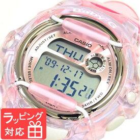 【名入れ・ラッピング対応可】 【3年保証】 腕時計 ブランド Baby-G ベビーG カシオ CASIO レディース キッズ 子供 REEF BG-169R-4DR クリアピンク