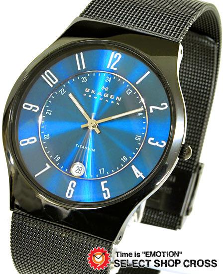 スカーゲン SKAGEN メンズ 腕時計 チタニウム メッシュベルト T233XLTMN ブルー 【男性用腕時計 リストウォッチ ランキング ブランド 防水 カラフル】【着後レビューを書いて1000円OFFクーポンGET】