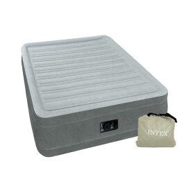 INTEX(インテックス) エアーベッド ツインコンフォート シングルサイズ 電動式 グレー 67765★ほっとする薬用発泡入浴剤3個付き★送料無料