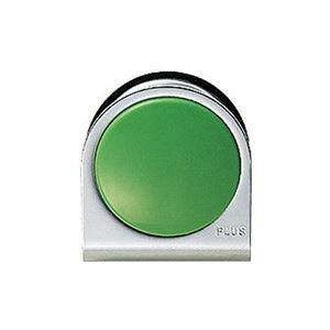 (まとめ)プラス カラーマグネット クリップ 大 緑【×10セット】