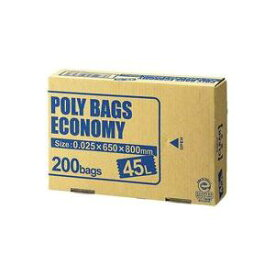 (まとめ)オルディ ポリバックエコノミー45L透明 PBE-N45-200【×2セット】