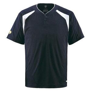 デサント(DESCENTE) ベースボールシャツ(2ボタン) (野球) DB205 Dネイビー S