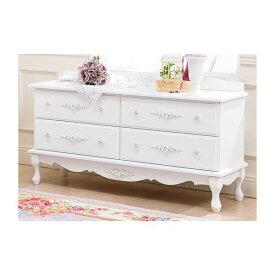 ピュアホワイトアンティーク飾り家具 5: ローチェスト