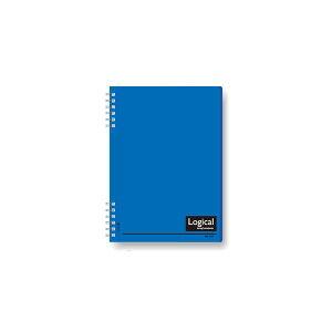 (業務用セット)ナカバヤシ スイング・ロジカルノート/Wリング A5 A罫 PP表紙 ブルー NW-A507-A【×10セット】