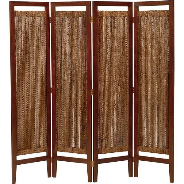 パーテーション(スクリーン) グランツシリーズ 4連 木製 高さ150cm アジアン風 ナチュラル【代引不可】