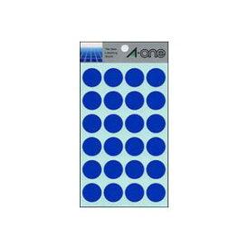 (まとめ) エーワン カラーラベル 丸型20mm径 07042 青 1P14シート(336片)入 【×10セット】