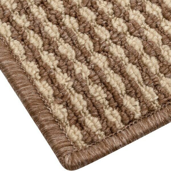 抗菌 防臭 ループカーペット ラグマット / 江戸間 4.5畳 261×261cm / ベージュ オールシーズン対応 平織り 『リップル』