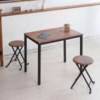 ヴィンテージスツール(ブラウン/茶)折りたたみ椅子/カウンターチェア/スチール/イス/スツール/コンパクト/スリム/キッチン/パイプイス/モダン/レトロ/カフェ/木目/木/完成品/NK-113