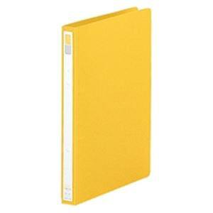 (業務用100セット) LIHITLAB リング式ファイル 【A4/2穴】 タテ型 背幅:27mm F-867U-5 黄