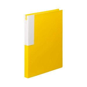 (まとめ) TANOSEE クリヤーブック(クリアブック) A4タテ 36ポケット 背幅24mm イエロー 1セット(10冊) 【×5セット】