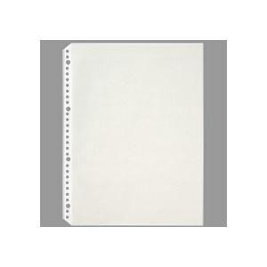 (まとめ) TANOSEE クリヤーブック(クリアブック)ポケット(台紙入) A4タテ 2・4・30穴 グレー 1パック(100枚) 【×4セット】
