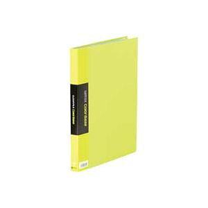 (業務用100セット) キングジム クリアファイル/ポケットファイル 【A4/タテ型】 固定式 40ポケット 132CW 黄緑