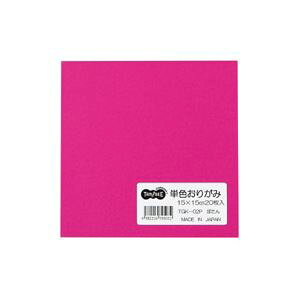 (まとめ) TANOSEE 単色おりがみ ぼたん 1パック(20枚) 【×60セット】