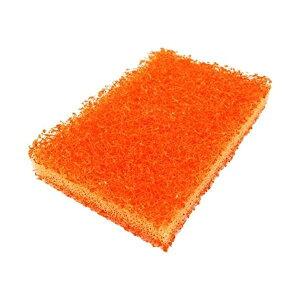 傷つきにくい コゲとりたわし/タワシ 【オレンジ ダブル】 日本製 フッ素コートのフライパンや食器類等 【200個セット】