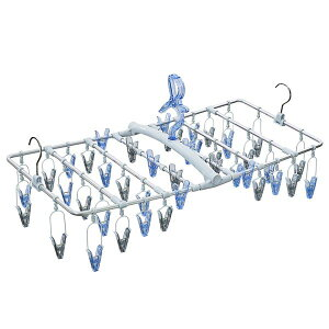洗濯ハンガー/ピンチハンガー 【ブルーグレー】 42ピンチ 幅75cm 耐衝撃 高耐久 『天馬 華麗な乾きやすいアーチ干し』