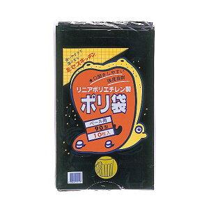 (まとめ)積水フィルム 積水 90型ポリ袋 黒#7-2 N-9708 1パック(10枚)【×10セット】