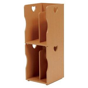 ブックスタンド/本立て 4個セット 【ナチュラル A4サイズ対応】 幅24.5cm 木材 仕切り付 〔パソコンデスク 勉強机〕【代引不可】