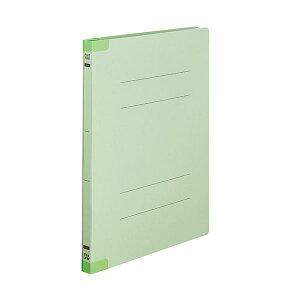 (まとめ)TANOSEEフラットファイル(背補強タイプ) A4タテ 150枚収容 背幅18mm グリーン1セット(30冊:10冊×3パック) 【×3セット】