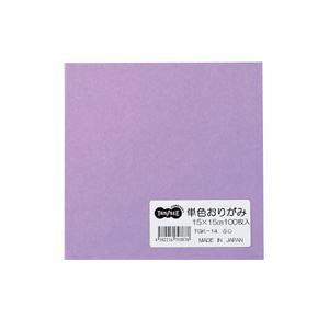 (まとめ) TANOSEE 単色おりがみ ふじ 1パック(100枚) 【×30セット】
