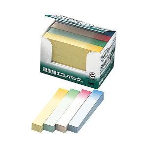 (まとめ) 3M ポスト・イット エコノパックふせんハーフ 再生紙 75×12.5mm グラデーション4色 5601-GK 1パック(20冊) 【×10セット】