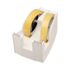 (まとめ) ライオン事務器 テープカッター(フリス)2連 太巻用 112×171×92mm ホワイト TC-30 1台 【×5セット】