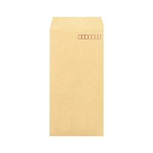 (まとめ)ピース R40再生紙クラフト封筒 テープのり付 長3 85g/m2 〒枠あり 847 1パック(100枚) 【×5セット】