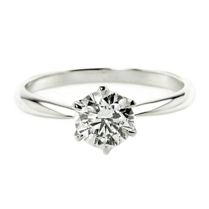 ダイヤモンドリング一粒1カラット17号プラチナPt900DカラーSI2クラスExcellentH&Cエクセレントハート&キューピットダイヤリング指輪大粒1ct鑑定書付き