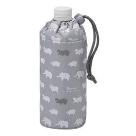 (まとめ) ペットボトルカバー/ペットボトルホルダー 【アニマル グレー】 保冷・保温 500mlペットボトル用 【240個セット】