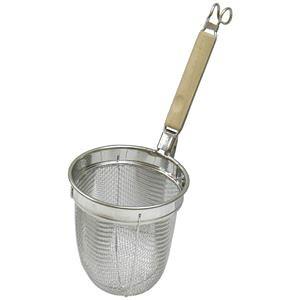 【20個セット】 麺類用 湯切り/調理器具 【幅140mm】 日本製 木製取っ手付き 『パール金属 ミドルプロ 木柄うどんテボ』