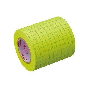 (まとめ) ヤマト メモックロールテープ ノートタイプ 方眼スペア/詰替用テープ 蛍光紙 【×10セット】