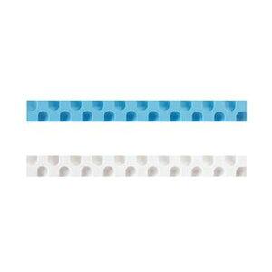 (まとめ)コクヨ 消しゴム カドケシスティックつめ替え用消しゴム(ブルー・ホワイト)ケシ-U600-2 1セット(20本:2本×10パック)【×10セット】