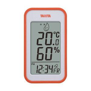 (まとめ)タニタ デジタル温湿度計 オレンジTT559OR 1個【×2セット】