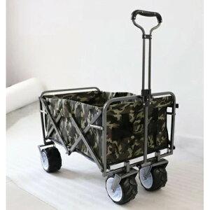 DETAIL キャリーワゴン キャリーカート 大型タイヤ 迷彩【代引不可】