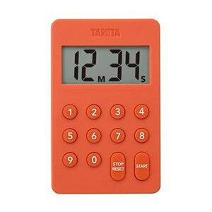 (まとめ)タニタ デジタルタイマー100分計オレンジ TD-415-OR 1個【×10セット】