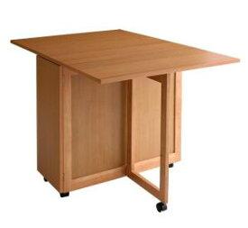 【単品】(テーブルのみチェア付属無し)天然木バタフライ伸長式収納ダイニング【kippis!】キッピス バタフライテーブル単品