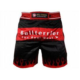 ブルテリア BULL TERRIER bj-260 BULLTERRIER ファイトショーツ Fire 黒/赤