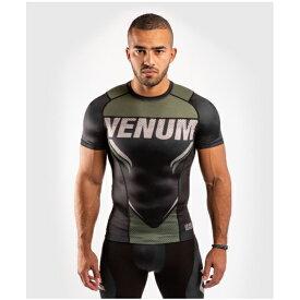 VENUM ヴェナム ONE FCインパクト半袖ラッシュガード - ブラック/カーキ ベナム ベナム VENUM-04113-539 格闘技 キックボクシング 総合