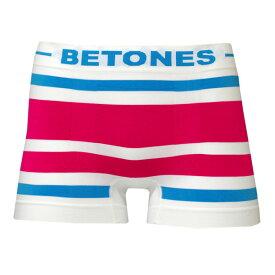 ビトーンズ BETONES ボーダー ボクサーパンツ (AKER B001-01 メール便対応 ブルー ピンク メンズ アンダーウェア)