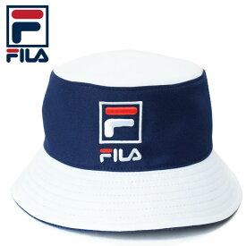 FILA フィラ バケットハット (FLH-P03 BUCKET HAT メンズ レディース レッド ネイビー ホワイト )