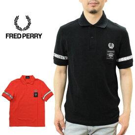 フレッドペリー 袖テープ ポロシャツ (SM5121 FRED PERRY ART COMES FIRST TAPED PIQUE SHIRT メンズ 鹿の子 フレッドペリーポロ)