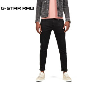 ジースター ロウ D-STAQ ブラックジーンズ スリム (G-STAR RAW メンズ 51001-B964-A810 3301 Slim Jeans)