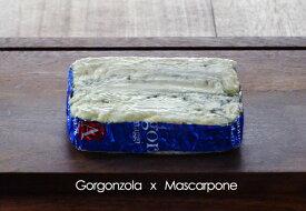ゴルゴンゾーラ・マスカルポーネ  100g(不定貫)【青カビ/ブルーチーズ/イタリア】